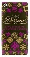 Divine Hořká čokoláda s mandlemi a rozinkami
